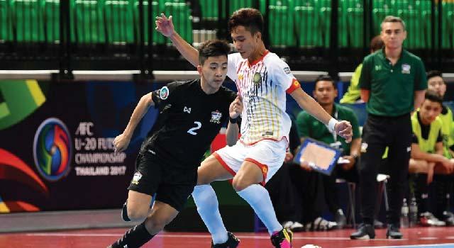 ฟุตซอลไทย U20 เก็บชัยชนะต่อเนื่องถล่มบรูไน 10-0