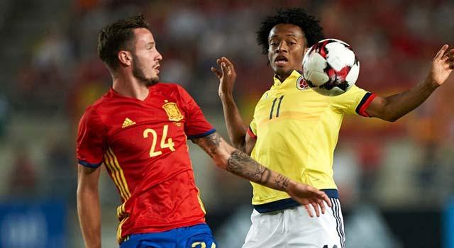 ไฮไลท์ฟุตบอล สเปน 2-2 โคลัมเบีย