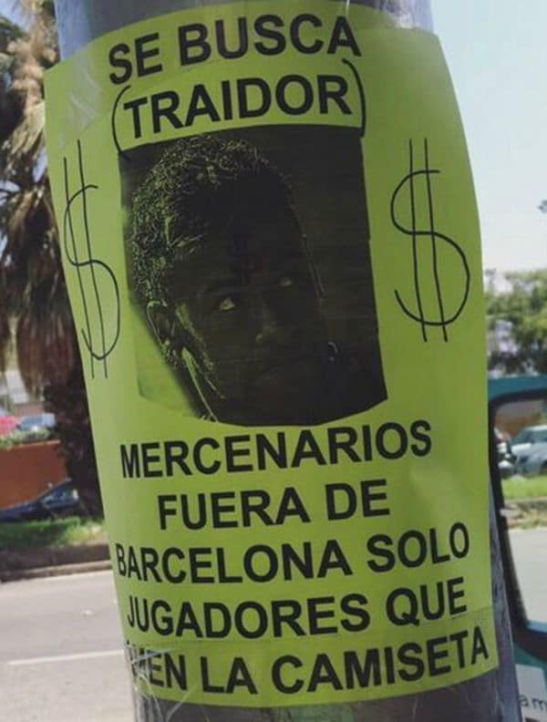 Neymar-letrero