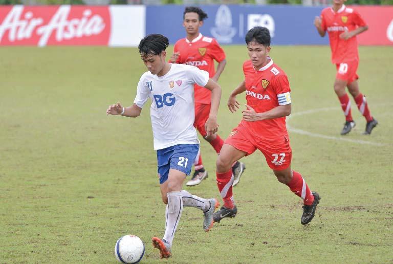 บีจี ยู19 เอาชนะ ไทยฮอนด้า ลาดกระบังฯ 2-0