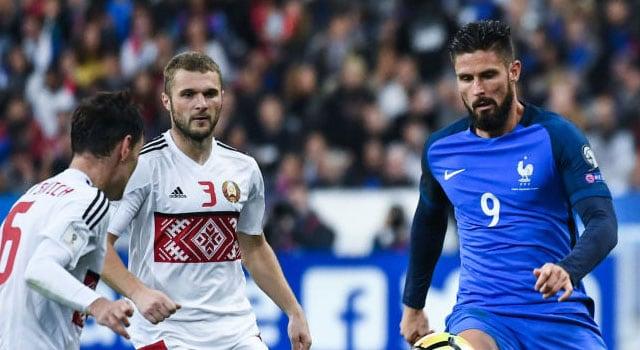 ไฮไลท์ฟุตบอล ฝรั่งเศส 2-1 เบลารุส