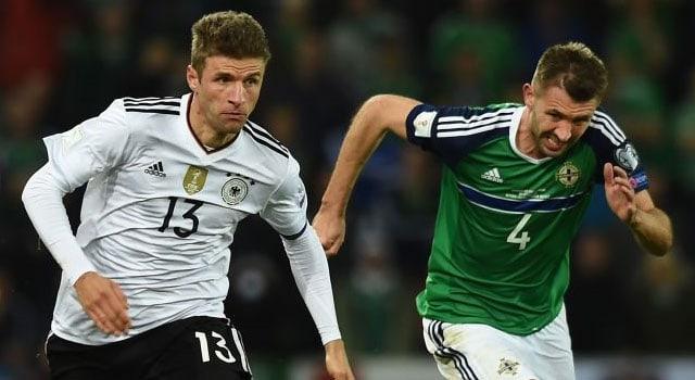 ไฮไลท์ฟุตบอล ไอร์แลนด์เหนือ 1-3 เยอรมนี